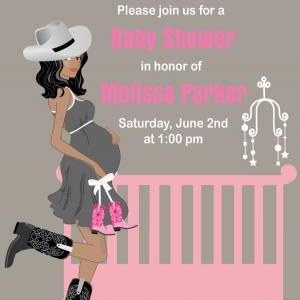 cowgirl baby shower invitations  western theme  available in, Baby shower invitations