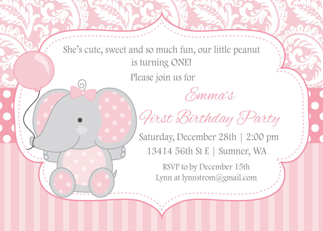 elephant birthday invitations u2013 gangcraft net