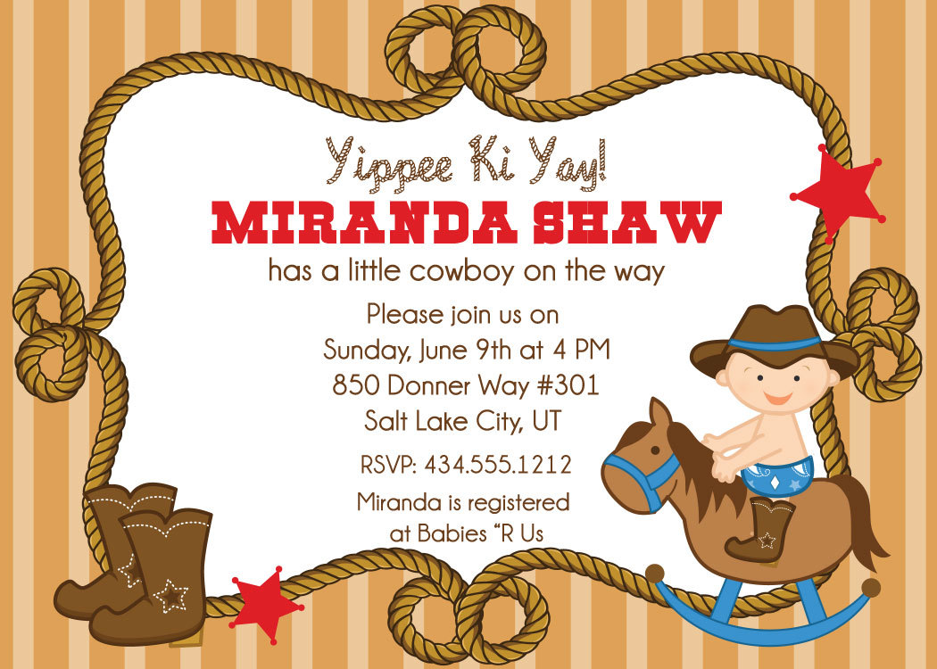 cowboy baby shower invitations cowboy baby shower invitations by