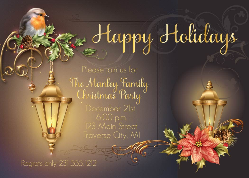 lantern christmas invitation corporate holiday party invite lantern christmas invitation corporate holiday party invite office christmas cards